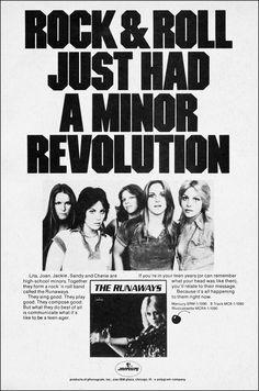 chrisgoesrock:  The Runaways - 1st Album Advertise