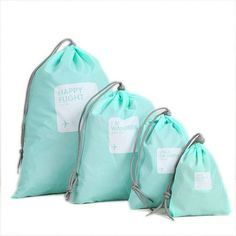 DINIWELL 4x Waterproof Travel Drawstring Dry Storage Bag Shoe Laundry Lingerie Makeup Pouch For cosmetics Underwear Organizer