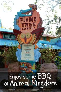 Flame Tree BBQ has some of the best ribs you will ever eat!  And if you are here during the Animal Kingdom parade, you can see it from their side seating area!