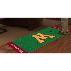 Minnesota Golden Gophers Golf Putting Green Runner Area Rug