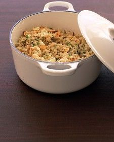 Toasted almond rice pilaf - Simple last-minute touches like toasted nuts will liven up your side dishes.