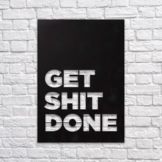 Get Shit Done - Metal Wall Decor - Northshire - Metal Wall Art - Metal Wall Decor    #interior #wallart #interiors #interiordesign #inspiration #decor #decoration #design #ideas #giftideas #art #artforsale #artoftheday #designer #handmade #homedecor #home #print #artprint #poster #decorationideas #conceptdesign #styling #office #wallart #walldecor #minimal #metal #metalwallart #metaldecor #metaldecoration #metalwalldecor #getshitdone