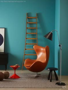 That wall color will be perfect for the kids room: Jotun scooter Kids Room Design, Interior Design Living Room, Interior Decorating, Jotun Lady, New Paint Colors, Egg Chair, Scandinavian Interior, Best Interior, Home Living Room