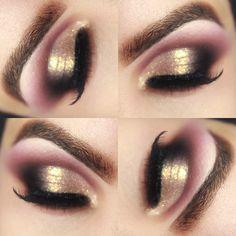 Tutorial - maquiagem diva com vinho e Toque de Dourado » Pausa para Feminices