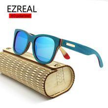 c2b19c82f5 EZREAL polarized WOODEN Sunglasses Men bamboo Sun glasses Women Brand  Designer Original Wood Glasses Oculos de