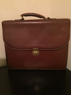 3528b6001cf7 Vintage Brooks Brother s ITALY Bridle Rustic Leather Briefcase Attache Mens   fashion  clothing  shoes