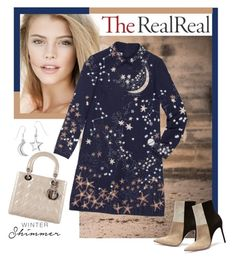 """Holiday Sparkle With The RealReal: Contest Entry"" by veronica7777 ❤ liked on Polyvore featuring Valentino, Christian Dior and Gianvito Rossi"