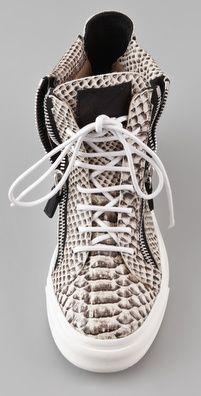 snakeskin sneakers giuseppe zanotti