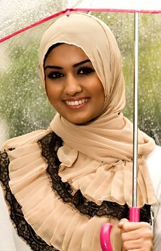 Victorian Lace Hijab Design of The Modern Muslim Women Fashion Style with Vela Scarves by Marwa Atik California