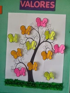 we could have a tree and add to tree different kind of fruits as a points Diy And Crafts, Crafts For Kids, Arts And Crafts, Paper Crafts, Class Decoration, School Decorations, School Projects, Projects To Try, Birthday Charts