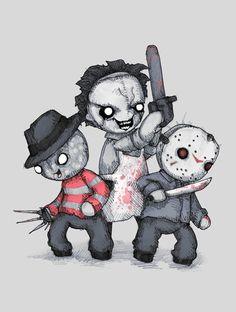 Design Pine / Very Best of Art & Design Scary Drawings, Dark Art Drawings, Halloween Drawings, Halloween Art, Cute Drawings, Horror Cartoon, Horror Icons, Cartoon Art, Arte Horror
