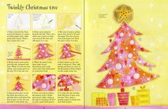 How to draw a twinkly Christmas tree, from 'Christmas Things to Draw' from - a great activity book full of imaginative ideas for scenes.