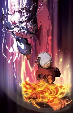 Evil Ryu versus Violent Ken.