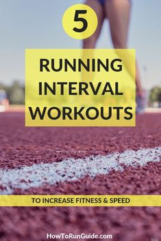 Increase your fitness and speed with these 5 running interval workouts! #running #runningtips Interval Running Workouts, Speed Workout, Running Routine, Running On Treadmill, Track Workout, Interval Training, Running Tips, Race Training, Training Plan