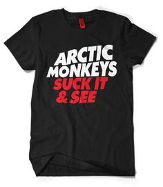 Artic Monkeys T-Shirt This t-shirt is Made To Order, one by one printed so we can control the quality. Rock T Shirts, Band Shirts, Band Merch, Artic Monkeys Shirt, Arctic Monkeys, Monkey T Shirt, T Shirt World, T Shirt And Shorts, Online Clothing Stores