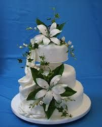 Image result for pics of wedding cakes with lilies