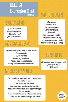 How to express your opinion in Spanish. Elementary Spanish, Ap Spanish, Spanish Grammar, Spanish Vocabulary, Spanish Language Learning, Spanish Classroom, Spanish Lessons, How To Speak Spanish, Spanish Worksheets