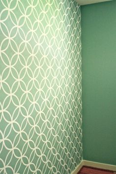 I'd love this for a kitchen backsplash! (Stenciling accent walls.)