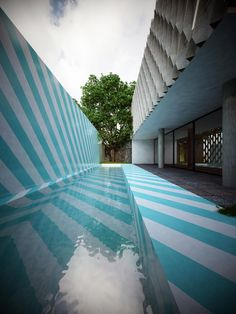 I would never have thought to paint rather than tile a pool but now that I see it I LOVE it!!  ROW studio: ortega house