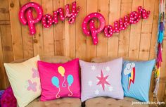 My Little Pony Birthday Party via Kara's Party Ideas KarasPartyIdeas.com Cake, decor, tutorials, recipes, favors and MORE! #mylittlepony #mylittleponyparty #ponyparty #rainbowparty #girlpartyideas (30)