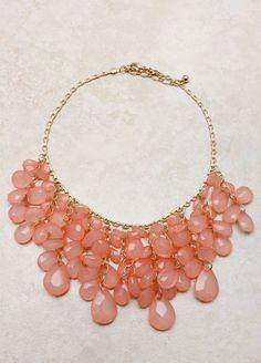 Pink Blush Cascade Necklace