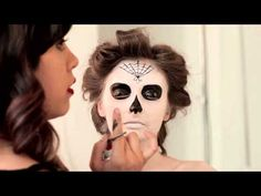 Halloween Make-up Tutorial Day of the Dead presented by HobNob Wines