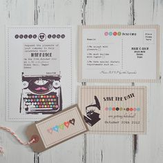 beautiful,quirky wedding invites