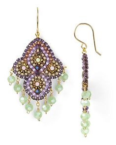 Miguel Ases Swarovski Prehnite Quartz Drop Earrings | Bloomingdale's