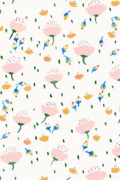 "Floral painterly pattern ""April Showers"""