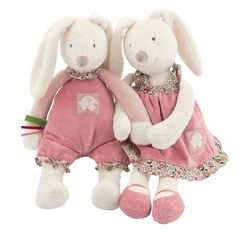 How cute is this Couple Rabbit Plush Dolls?!  Get them here  https://petitelapetite.com/products/couple-rabbit-plush-dolls