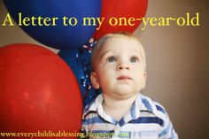 Writing a letter to your 1-year-old about your first year together