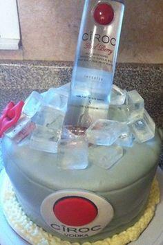 Ciroc Cake All Edible A Bakers Creation Pinterest Cake