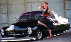 Miss Ruby Sparkles & a Mercury Lead Sled
