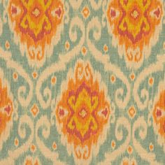 Gorgeous upholstery ikat fabric on Etsy!