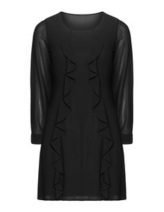 Манон Батист Flared шифоновое платье в черный