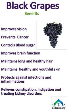 Benefits of black grapes