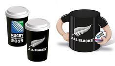 Rugby Ceramic Coffee Mug And Travel Cup  Zealand All Blacks 2015 World Cup