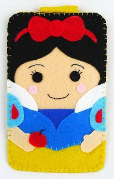 Princess collection Handmade Snow White Princess disney land iphone, iphone 4S felt cell phone case (FREE SHIPPING). $18.00, via Etsy.
