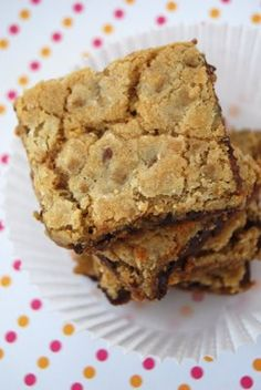 Lovin' From the Oven: Dorie Greenspan's Chewy, Chunky Blondies. For more recipes look out for Dore Greenspan's upcoming book BAKING CHEZ MOI (October Gourmet Recipes, Dessert Recipes, Desserts, Butterscotch Brownies, Dorie Greenspan, Cherry Candy, Dessert Bars, Blondies, Holiday Recipes