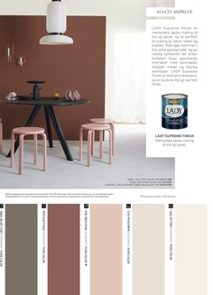 from Jotun LADY - Det nye vakre fargekartet 2017 Bedroom Wall Colors, Bedroom Red, Jotun Lady, Colour Architecture, Studio Apartment Decorating, Room Paint, Better Homes, Contemporary Interior, House Colors