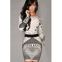Cheap Sexy O Neck Long Sleeves Print Black Pleated Mini Dress_Dresses_Womens Clothing_Cheap Clothes,Cheap Shoes Online,Wholesale Shoes,Clothing On lovelywholesale.com - LovelyWholesale.com