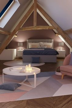 Fine Deco Chambre Sous Comble that you must know, You?re in good company if you?re looking for Deco Chambre Sous Comble Attic Bedroom Designs, Attic Rooms, Workout Rooms, Cabana, Interior Design Living Room, Bedroom Decor, Teen Bedroom, Home Decor, Jack Wolfskin