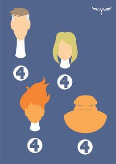 Minimalist Fantastic Four by elchavoman