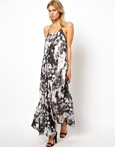 Image 4 of ASOS PETITE Exclusive Backless Maxi Dress In Marble Print