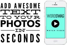 Word Swag App: Generate Cool Text, Words & Quotes on Your Photos (Recommended by Peg Fitzpatrick in HubSpot's DIY Design webinar)