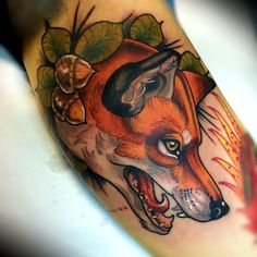 """""""Loved doing this! Thanks @klimaitis for being so patient. Inner arm. #fox…"""