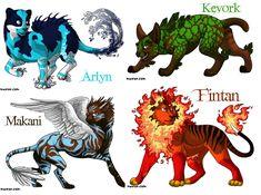 Love the name makani or kalani for your Skype character Magical Creatures, Fantasy Creatures, Elemental Magic, Creature Drawings, Zodiac Art, Fantasy Weapons, Elements Of Art, Cute Cartoon Wallpapers, Fantasy Artwork