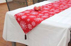 DIY Navidad: Camino de mesa navideño para decorar tu mesa.
