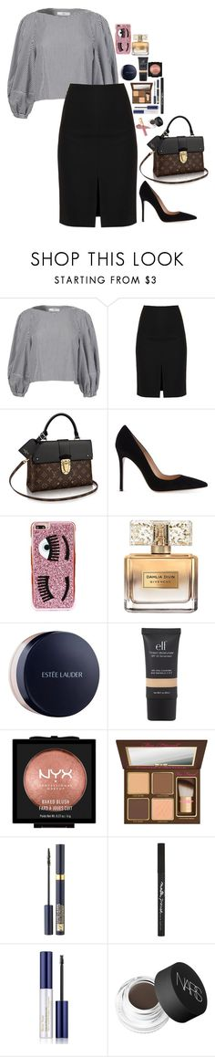 """""""Untitled #3736"""" by veronicaptr ❤ liked on Polyvore featuring TIBI, Nicole Miller, Gianvito Rossi, Chiara Ferragni, Givenchy, Estée Lauder, NYX, Too Faced Cosmetics, Maybelline and NARS Cosmetics"""