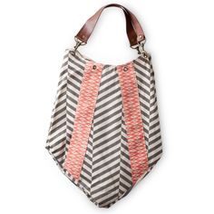Ikat coral and grey handbag  #designmom